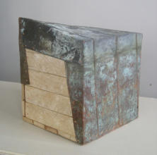 BOXED IN, 7.5 x 8 x 9.5 - Plaster lath, copper